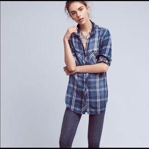CLOTH & STONE   anthro ackerley plaid button shirt